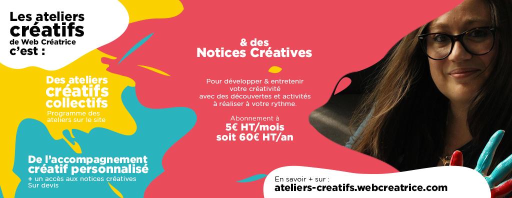 Notices Créatives à 5€ HT/ mois