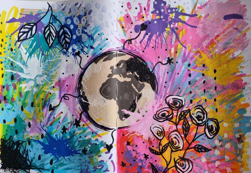 Art journal coloré
